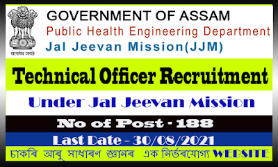 Jal Jeevan Mission Technical Officer Recruitment 2021