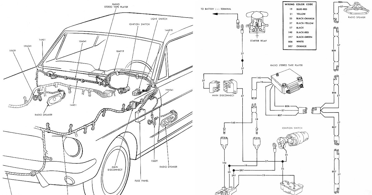 Free Auto Wiring Diagram: 1966 Mustang Radio Stereo Wiring