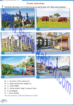 8. Sınıf İngilizce Tutku Yayınları Ders Kitabı Cevapları Sayfa 72
