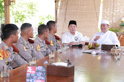 Pesan Kapolda NTB kepada 10 Taruna Akpol yang Berlebaran Idul Adha di Lombok