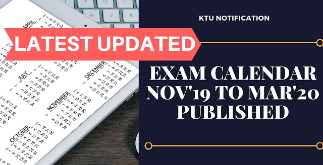 Revised Examination Calendar November 2019 - March 2020