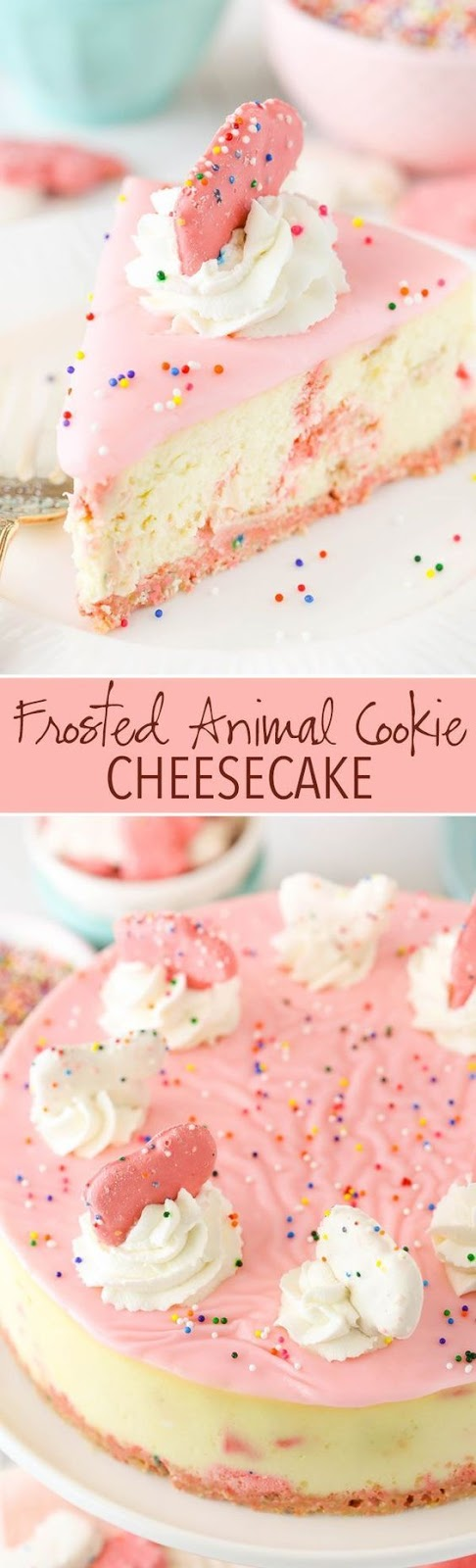 Frosted Animal Cookie Cheesecake - Dessert Recipes