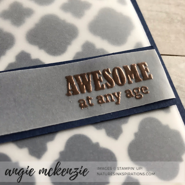 Free-for-All Friday | Florentine die negatives with Itty Bitty Birthdays by Stampin' Up!® | Nature's INKspirations by Angie McKenzie