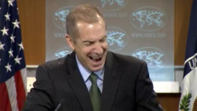 Portavoz de Exteriores de EE.UU. se echa a reír al hablar sobre transparencia y democracia