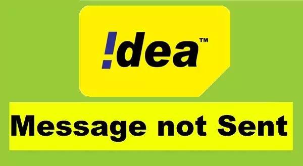 SMS Not Sent in Idea SIM - Idea Messages Not Sending Problem Solved