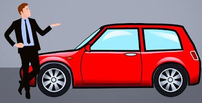 Ilustrasi pembelian mobil dengan pinjaman mega oto