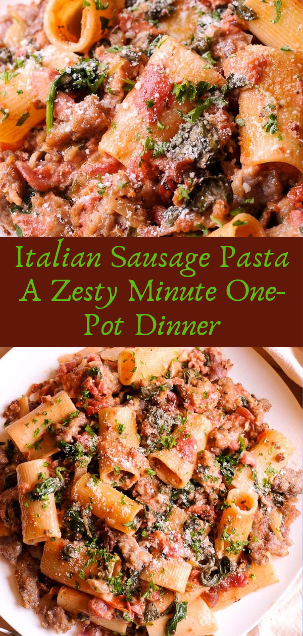 Healthy Recipes | Italian Sausage Pasta A Zesty Minute One-Pot Dinner, Healthy Recipes For Weight Loss, Healthy Recipes Easy, Healthy Recipes Dinner, Healthy Recipes Pasta, Healthy Recipes On A Budget, Healthy Recipes Breakfast, Healthy Recipes For Picky Eaters, Healthy Recipes Desserts, Healthy Recipes Clean, Healthy Recipes Snacks, Healthy Recipes Low Carb, Healthy Recipes Meal Prep, Healthy Recipes Vegetarian, Healthy Recipes Lunch, Healthy Recipes For Kids, Healthy Recipes Crock Pot, Healthy Recipes Videos, Healthy Recipes Weightloss, Healthy Recipes Chicken, Healthy Recipes Heart, Healthy Recipes For One, Healthy Recipes For Diabetics, Healthy Recipes Smoothies, Healthy Recipes For Two, Healthy Recipes Simple, Healthy Recipes For Teens, Healthy Recipes Protein, Healthy Recipes Vegan, Healthy Recipes For Family, Healthy Recipes Salad, Healthy Recipes Cheap, Healthy Recipes Shrimp, Healthy Recipes Paleo, Healthy Recipes Delicious, Healthy Recipes Gluten Free, Healthy Recipes Keto, Healthy Recipes Soup, Healthy Recipes Beef, Healthy Recipes Fish, Healthy Recipes Quick, Healthy Recipes For College Students, Healthy Recipes Slow Cooker, Healthy Recipes Ground Turkey, Healthy Recipes Rice, Healthy Recipes Mexican, Healthy Recipes Fruit, Healthy Recipes Tuna, Healthy Recipes Sides, Healthy Recipes Zucchini, Healthy Recipes Broccoli, Healthy Recipes Spinach,  #healthyrecipes #recipes #food #appetizers #dinner #sausage #pasta #onepot #dinner