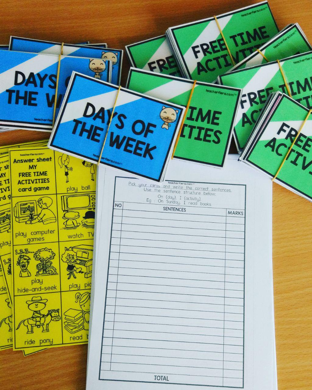 Teacherfiera Year 2 Unit 5 Card Game For