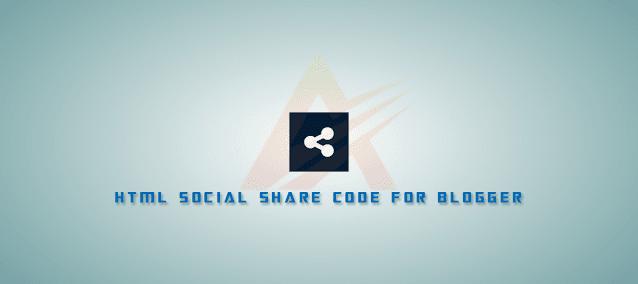 Những đoạn HTML Social Share (chia sẻ MXH) thường sử dụng cho Blogger