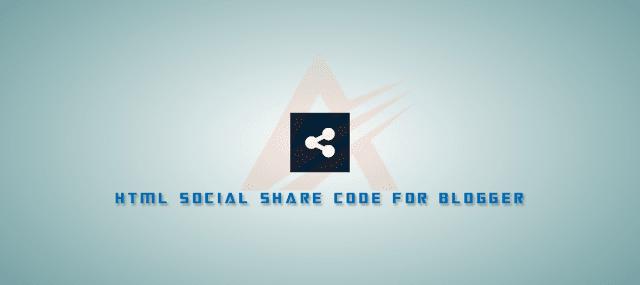 Những đoạn HTML Social Share (chia sẻ MXH) phổ biến cho Blogger