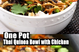 Delicious One Pot Thai Quinoa Bowl with Chicken