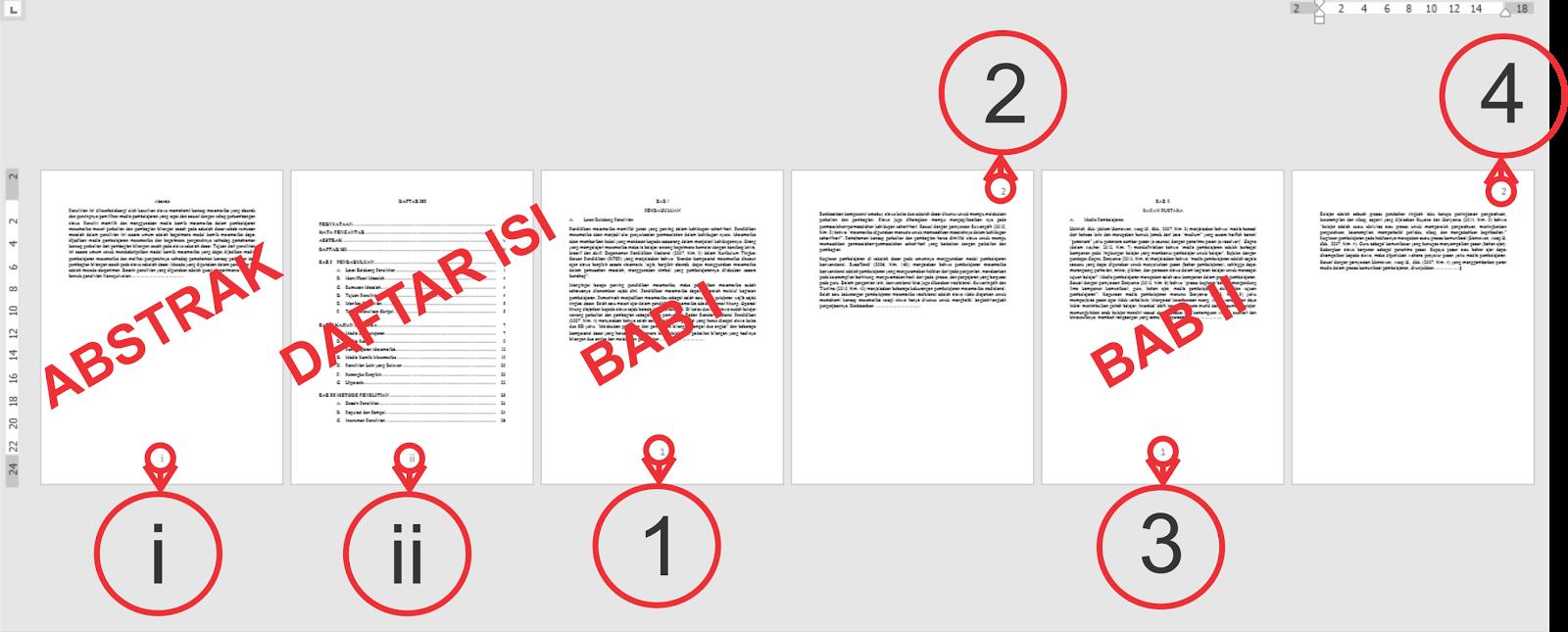 Cara Membuat Nomor Halaman Dengan Format Dan Posisi Yang Berbeda Caramahaku