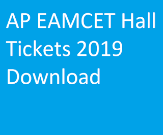 AP EAMCET Hall Tickets 2019 Download