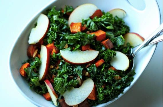 Sweet Potato and Kale Salad from Measure and Whisk