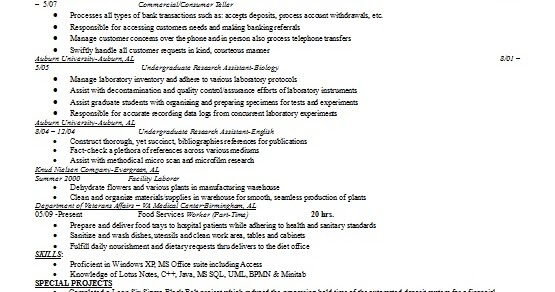 Undergraduate Research Assistant Resume Format In Word Free Download