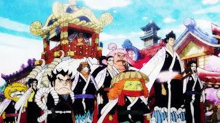 ワンピースアニメ | 赤鞘九人男 かっこいい | ONE PIECE | Nine Red Scabbards | Hello Anime !