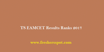 TS EAMCET Results Ranks 2017