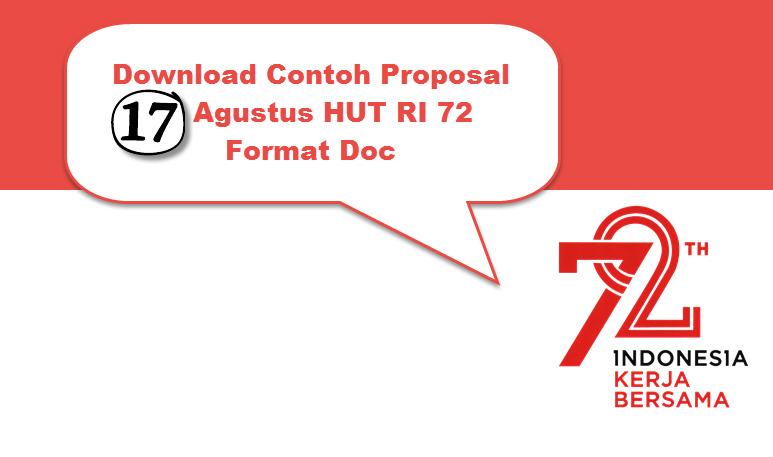 Download Contoh Proposal 17 Agustus HUT RI 72  Format Doc