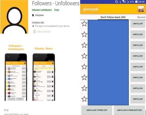 Cara Mengetahui Orang Yang Tidak Follback dan Unfollow Instagram