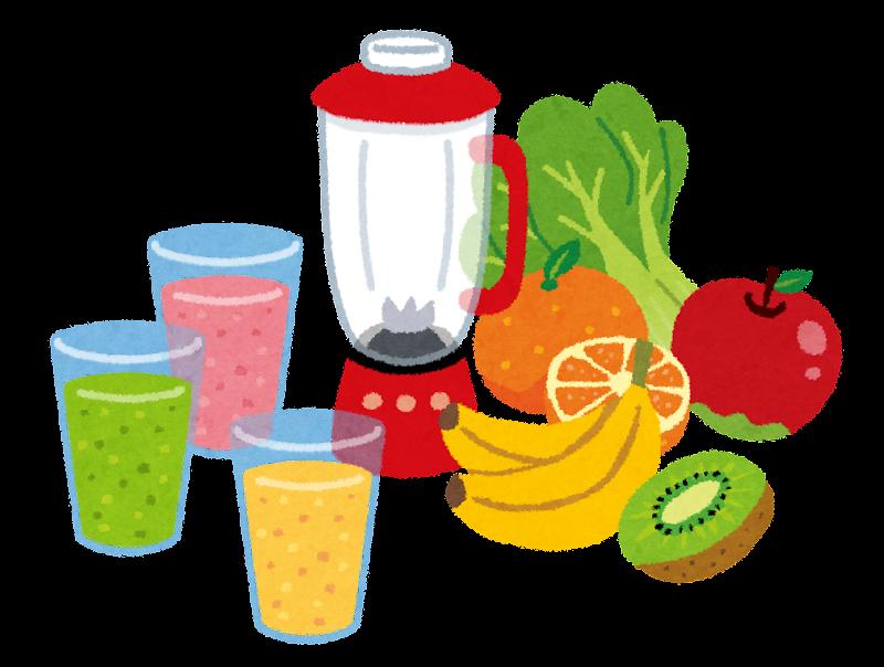 スムージー野菜フルーツジュースのイラスト かわいいフリー素材集