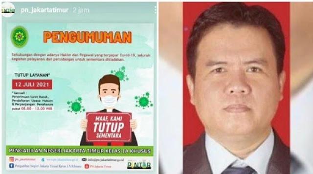 Usai Anggota Majelis Hakim yang Vonis HR5 Meninggal, PN Jaktim Tutup Layanan karena Covid-19