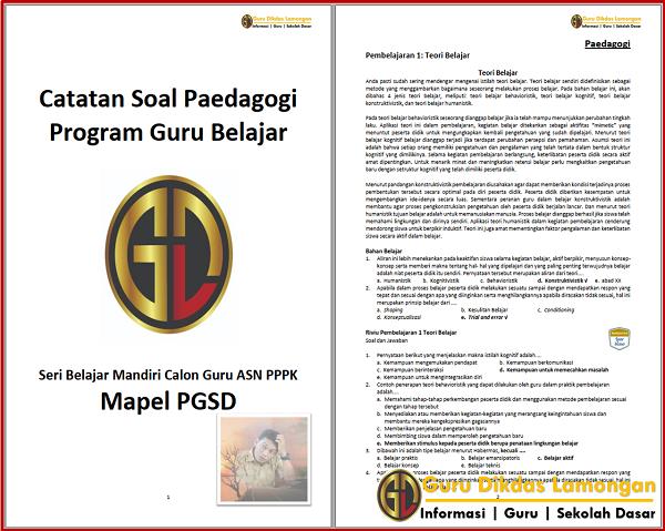 Catatan Soal Paedagogi Seri Belajar Mandiri Calon Guru ASN PPPK Mapel PGSD