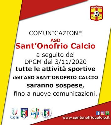 Sant'Onofrio: Attività Sospese