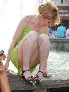 Fotos candid hermosas rubias piernas sexys