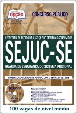 Apostila concurso SEJUC-SE 2018 Guarda de Segurança do Sistema Prisional