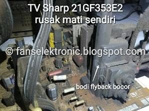 mengatasi tv sharp 21 rusak mati sendiri