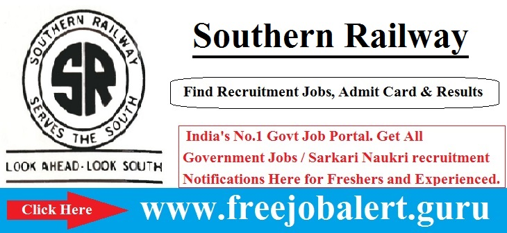 Southern Railway Recruitment 2016-17 | 862 Apprentice Posts Selection process will be based on Personal Interview.