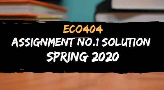 ECO404