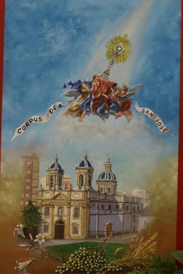 Celebración del Corpus en San Jose de Cádiz