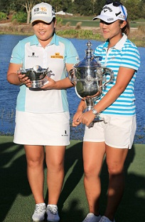 Lydia Ko and Yani Tseng in Womens golf championship.