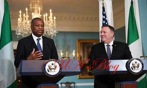 US secretary, Pompeo discusses AfDB Crisis over the phone with Nigerian foreign Affairs minister, Onyeama
