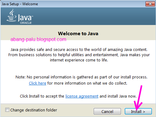 cara instal java di laptop