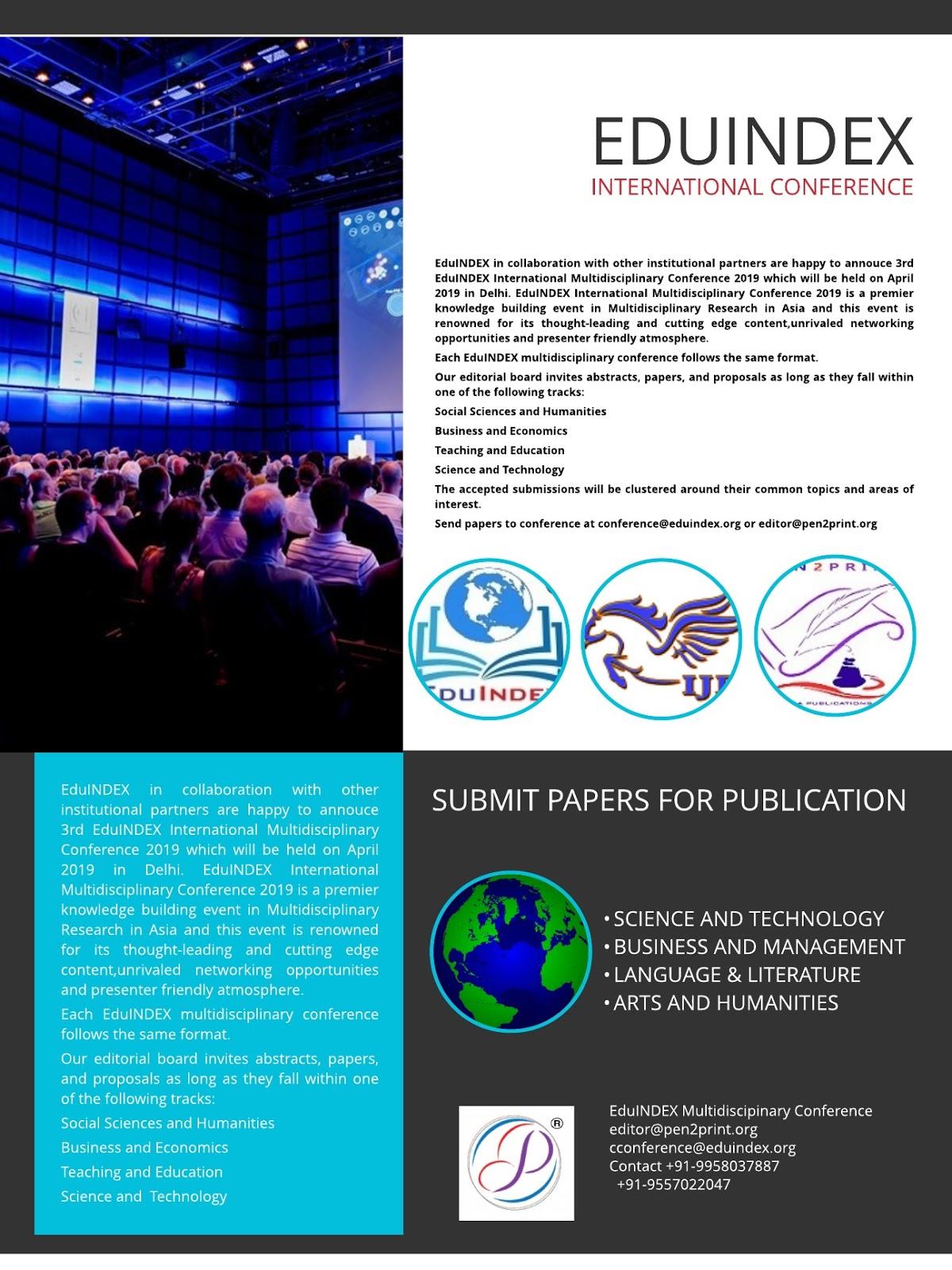 EduINDEX International Multidisciplinary Conference 2019