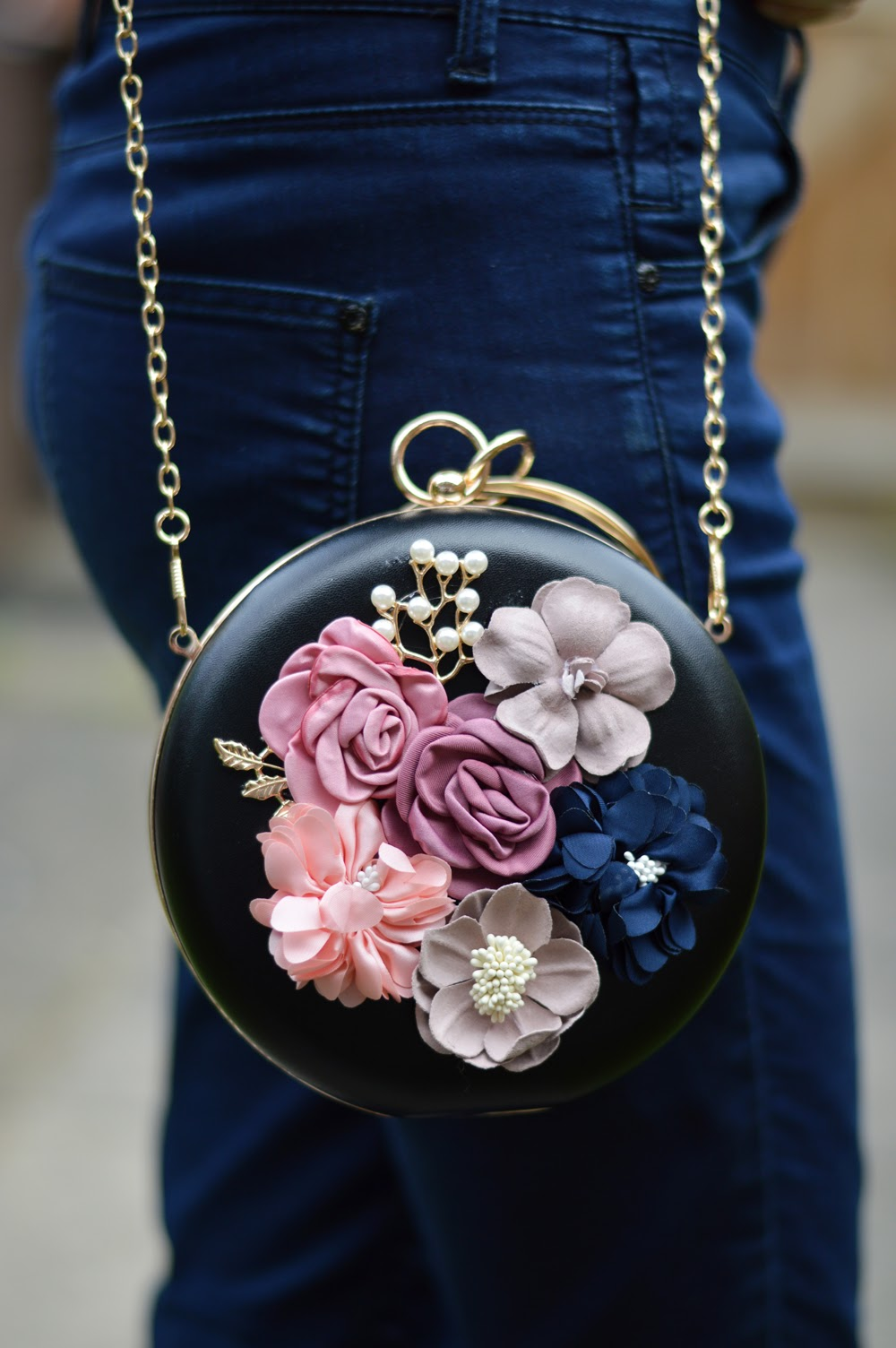 Embellished Floral Bag