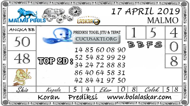 Prediksi Togel MALMO LASKAR4D 17 APRIL 2019