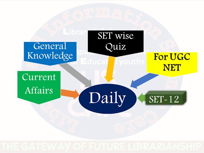 Daily Current Affairs Quiz SET-12 for UGC NET exam-2021
