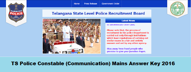 manabadi ts police constable Communication Key 2016