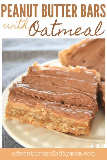 peanut butter bars with oatmeal
