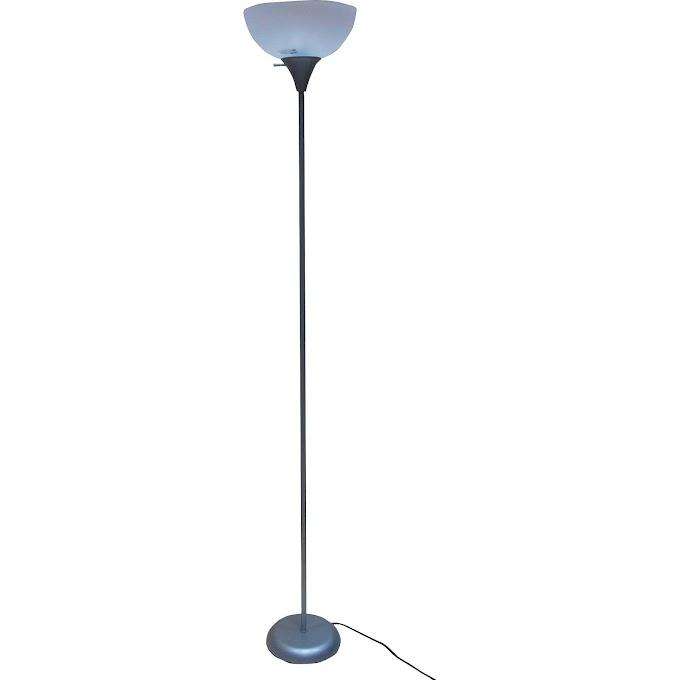 "WALMART - Mainstays 71"" Floor Lamp, Silver"