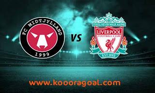 مشاهدة مباراة ليفربول ومتيولاند بث مباشر 27-10-2020 دوري أبطال أوروبا