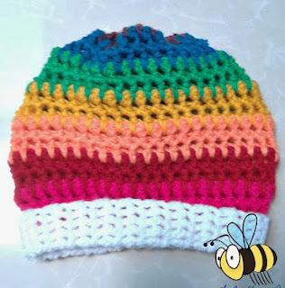 http://www.mazkwok.com/2014/01/rainbow-slouchy-hat-free-crochet.html