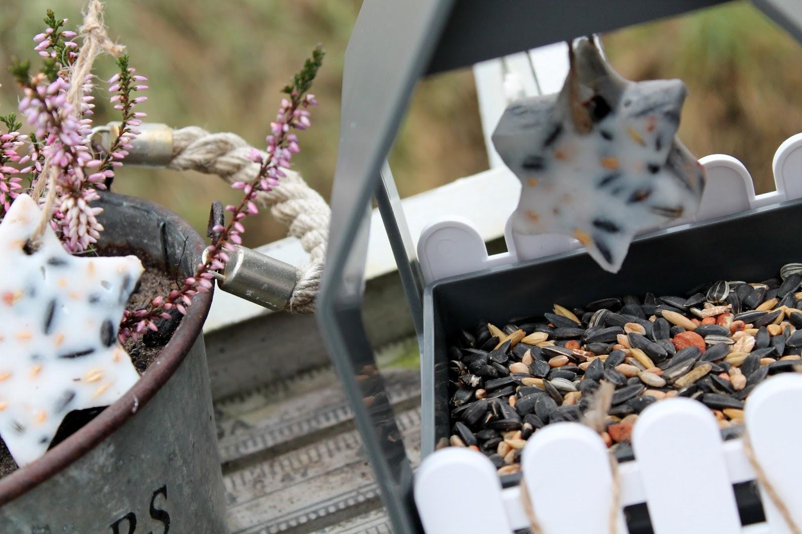 DIY, Basteln: selbstgemachtes Vogelfutter mit Plätzchenformen, Dekoration, Winterdekoration - DIYCarinchen