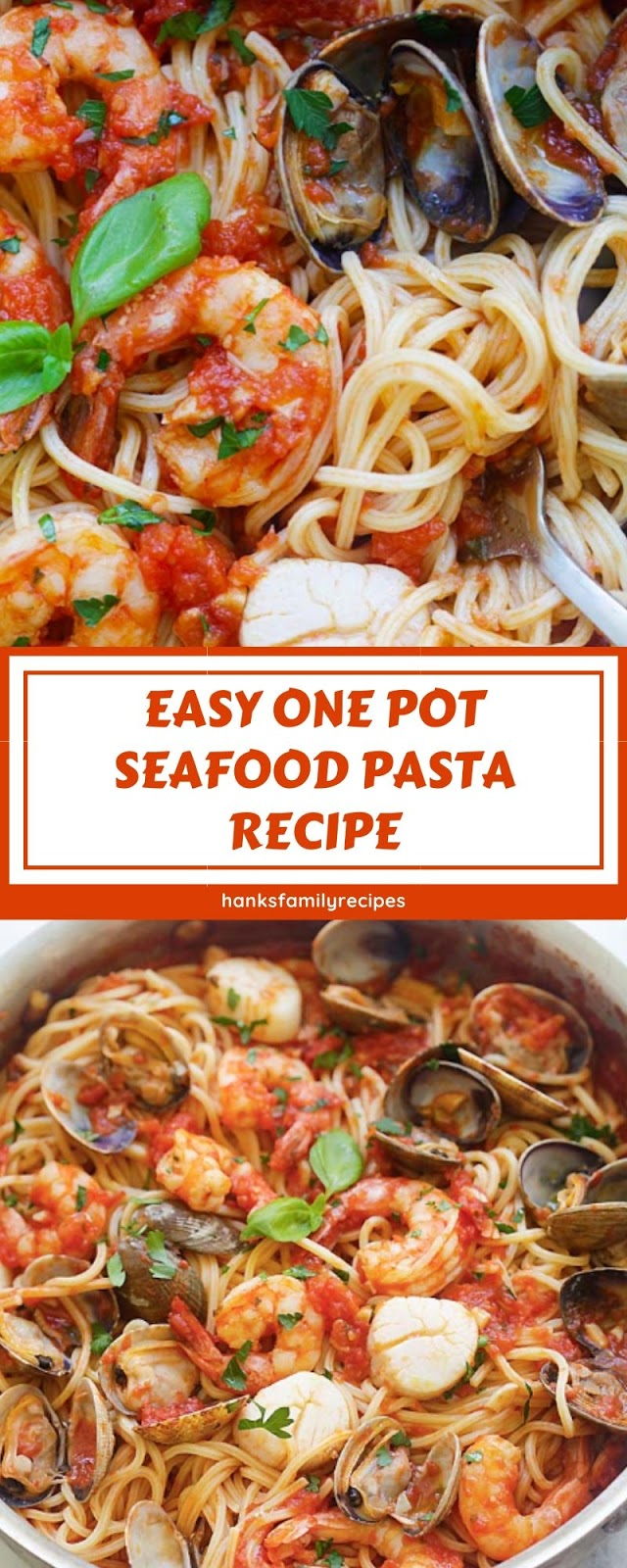 EASY ONE POT SEAFOOD PASTA RECIPE