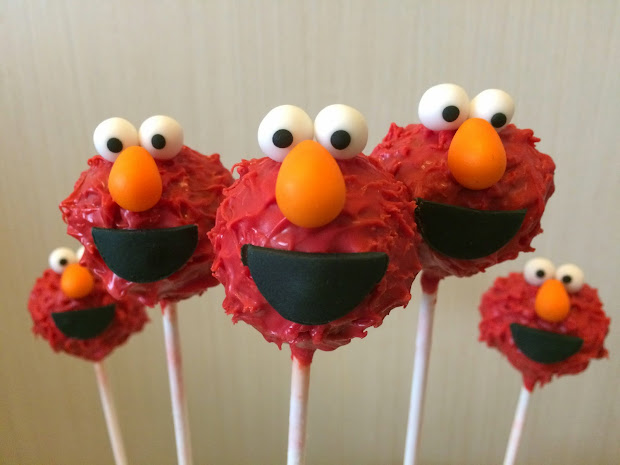 Elmo & Cookie Monster Cake Pops Crissa' Corner