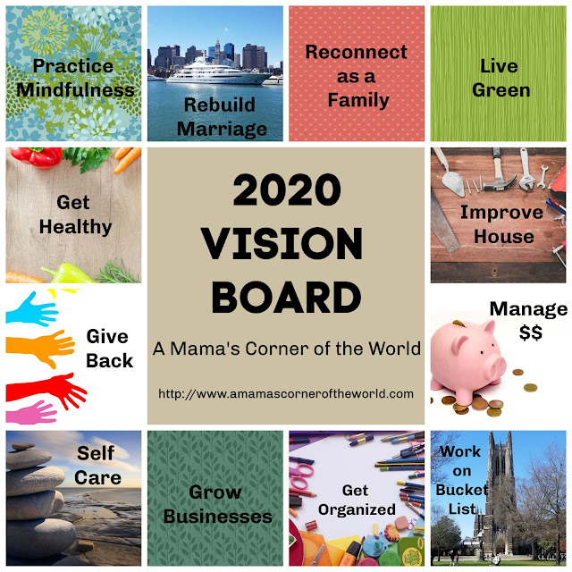 Ideas for Beginning your 2020 Vision Board