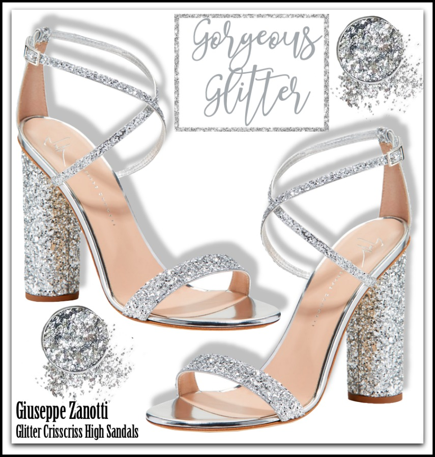 Giuseppe Zanotti Glitter Crisscross High Sandals